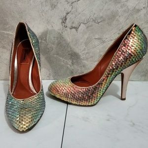 Missoni Sequin Mermaid Heels Rose Gold Holographic